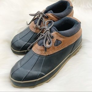 TUNDRA Waterproof Duck Shoes-Blue/Brown-Size 9